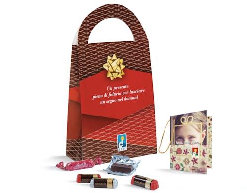Messaggio di auguri con cioccolatini 2021