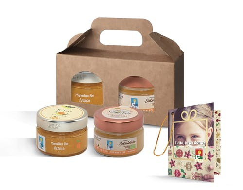 Messaggio di auguri con miele e marmellata 2021