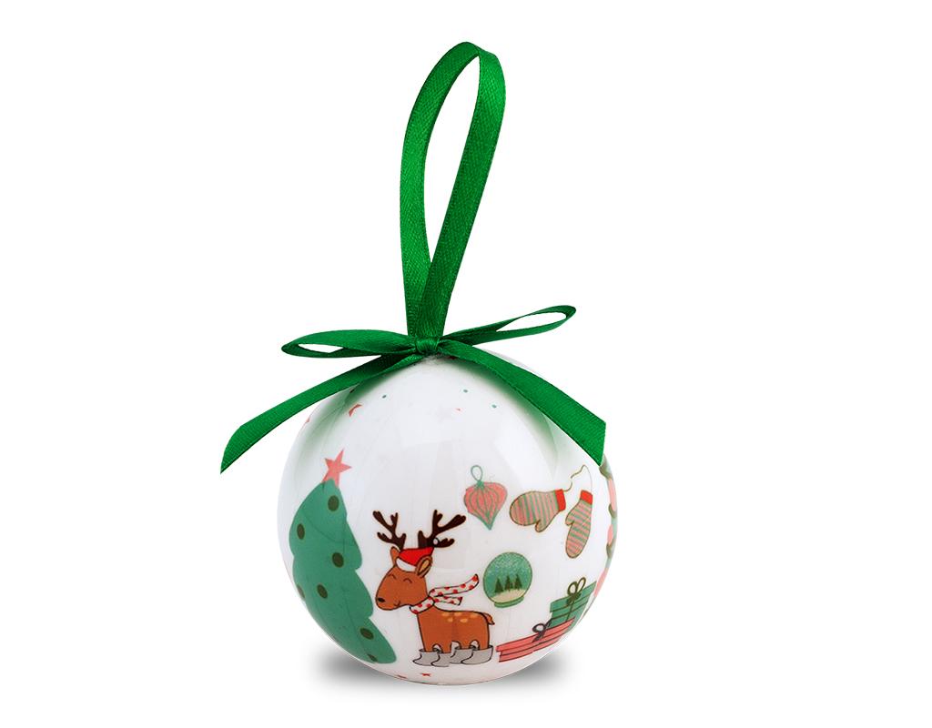 Airc Regali Di Natale.Pallina Di Natale Bianca Per Decorare L Albero
