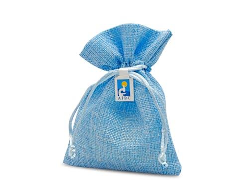 Bomboniera in stoffa Azzurra
