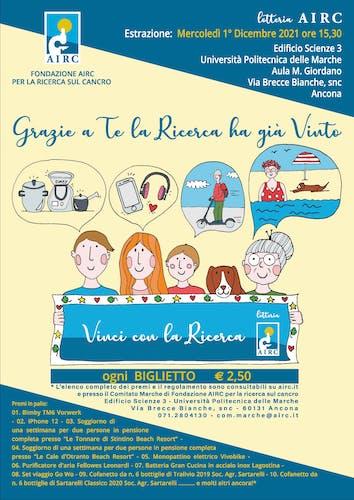 """Lotteria pro AIRC """"Vinci con la Ricerca"""""""