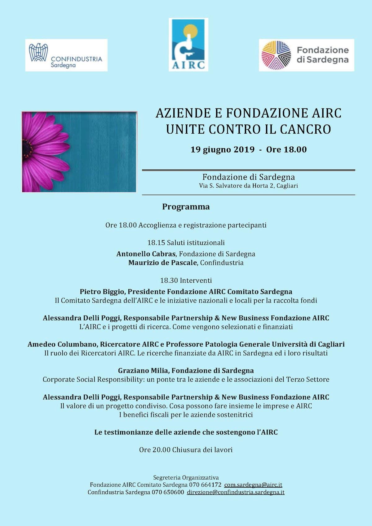 """""""Fondazione AIRC incontra Confindustria Sardegna"""""""