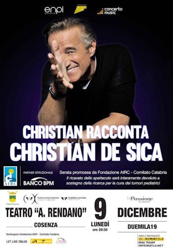 Christian De Sica in scena per AIRC