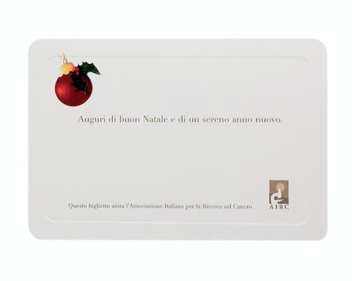 Cartoncino Pallina di Natale