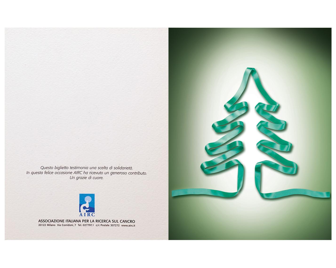 Biglietti Di Natale Airc.Biglietto Albero Di Natale