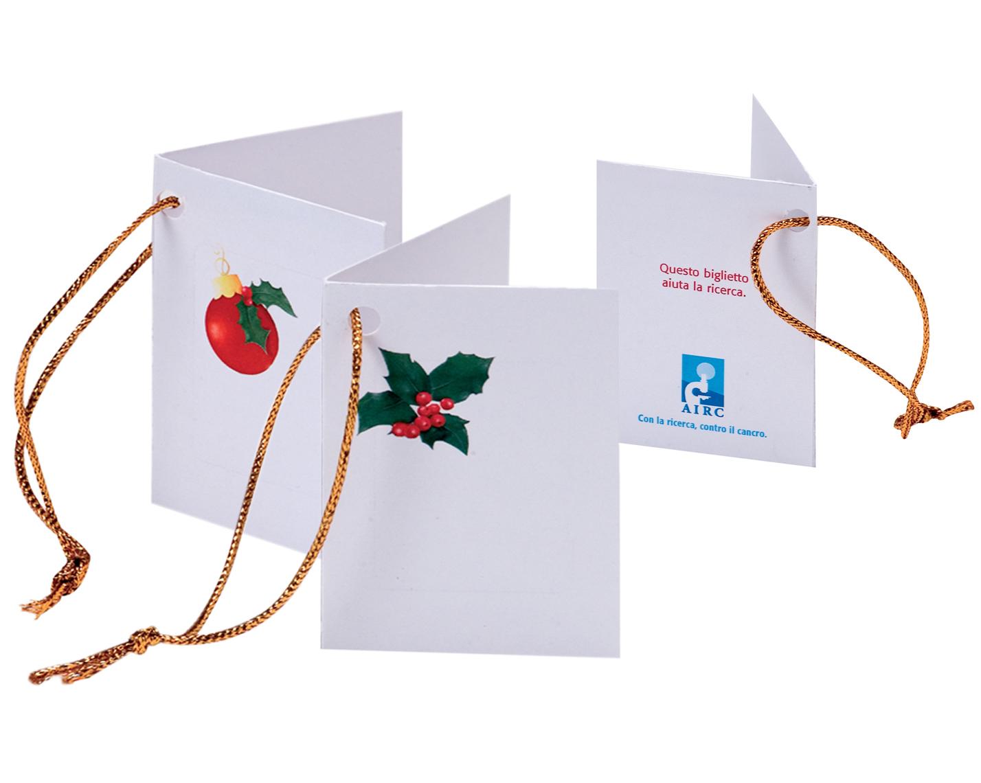 Biglietti Di Natale Airc.Chiudipacco Natalizi Airc 10 Pezzi