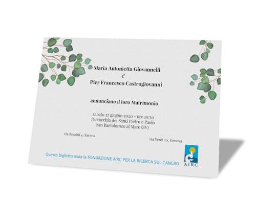 Biglietto di partecipazione - Linea Natura