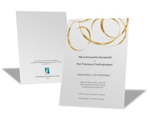 Partecipazione Personalizzata - Linea Momenti d'oro