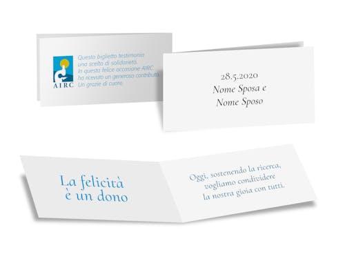Cartoncino personalizzabile Classica -10 pezzi plurale