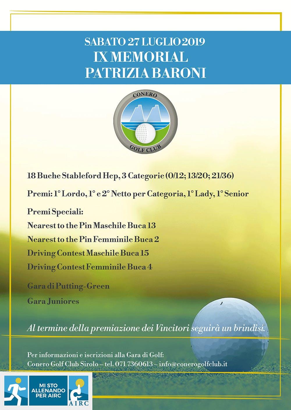 IX Memorial Patrizia Baroni