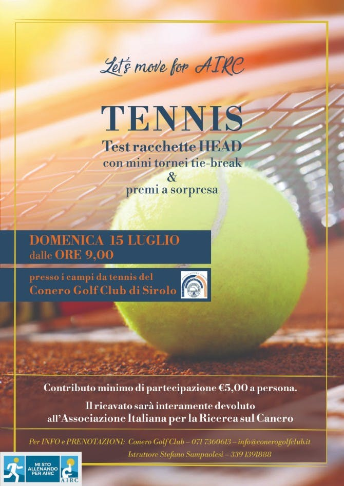 Locandia Tennis for AIRC 2018