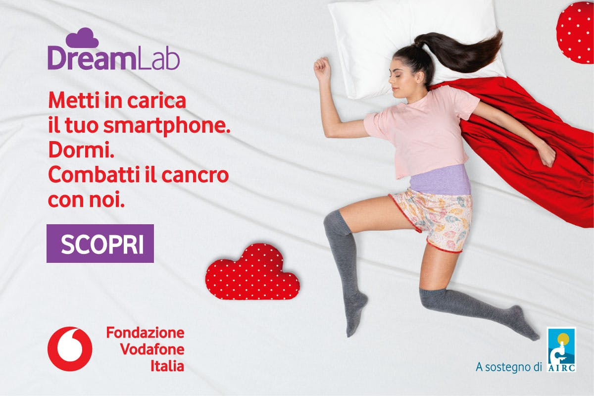 DreamLab, l'app di Fondazione Vodafone per aiutare la ricerca sul cancro