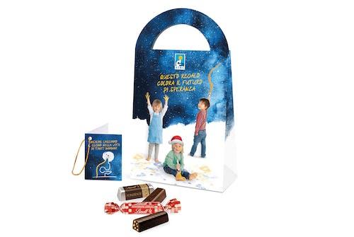 Messaggio di auguri con scatola di cioccolatini - 6 confezioni