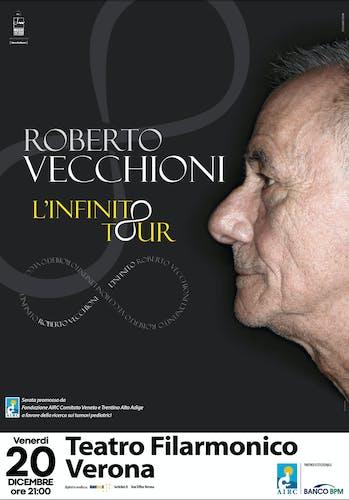 Roberto Vecchioni in scena per Fondazione AIRC