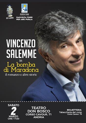 """Vincenzo Salemme in """"La Bomba di Maradona"""" (il romanzo e altre storie)"""