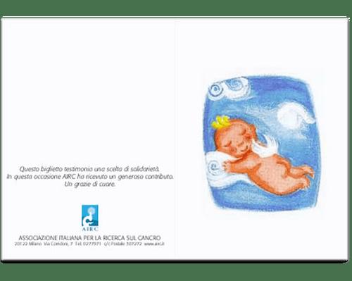 Biglietto augurale Nascita e Battesimo - Angioletto