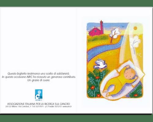 Biglietto augurale Nascita e Battesimo - Bebè
