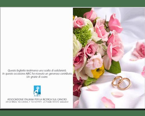 Biglietto Augurale Matrimonio - Fedi