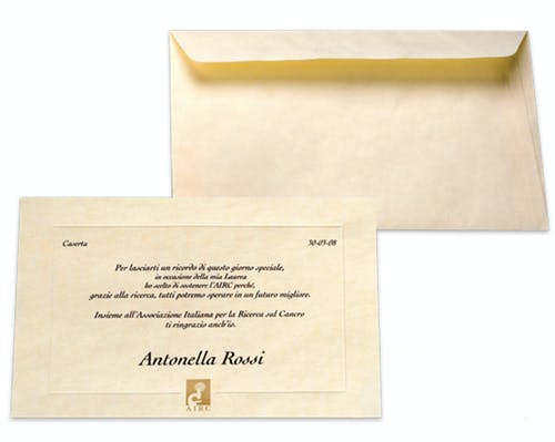Pergamena con busta