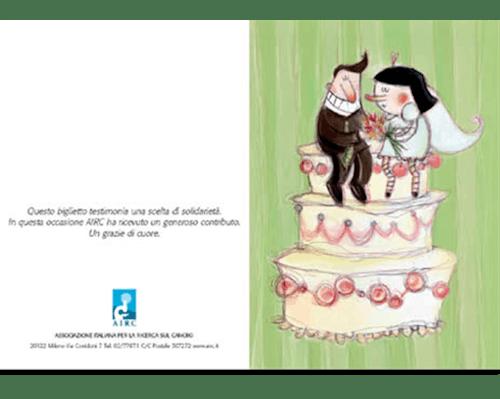 Biglietto Augurale Matrimonio - Torta