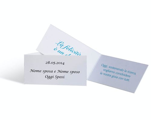 Cartoncino Personalizzabile Matrimonio - 10 pezzi