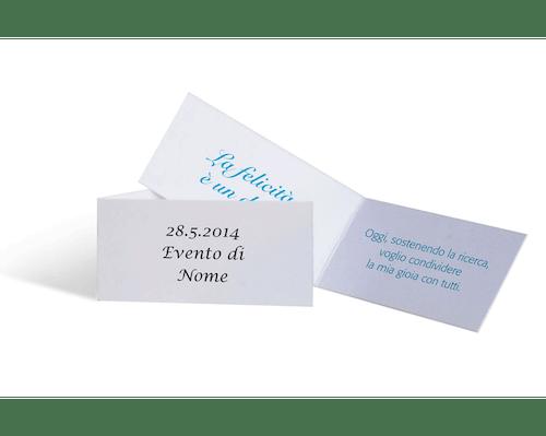 Cartoncino personalizzabile al singolare - 10 pezzi