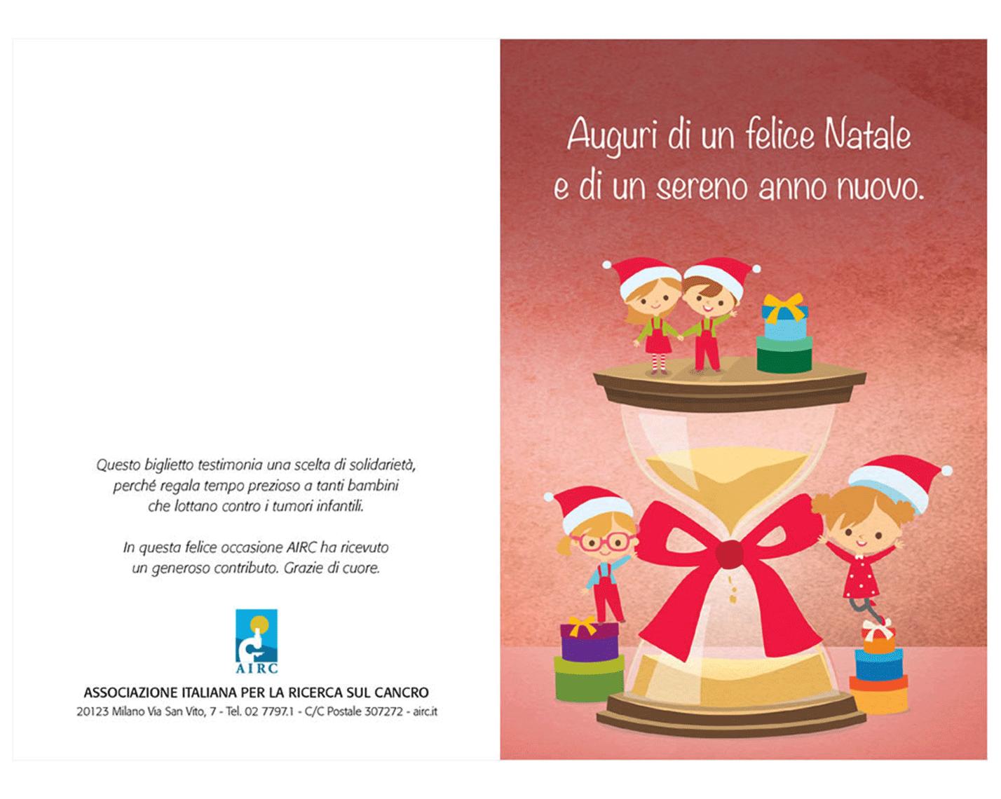 Biglietti Di Natale Airc.Biglietto Natale Clessidra