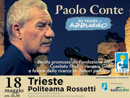 Paolo Conte in scena per AIRC