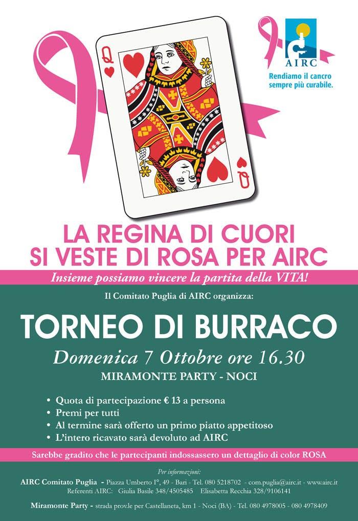 """Torneo di burraco """"La regina di cuori si veste di rosa per AIRC"""""""