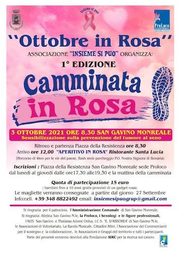 Camminata in rosa di San Gavino Monreale