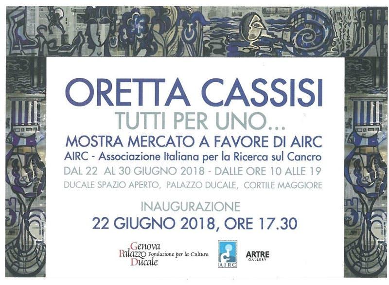 Oretta Cassisi. Tutti per uno...
