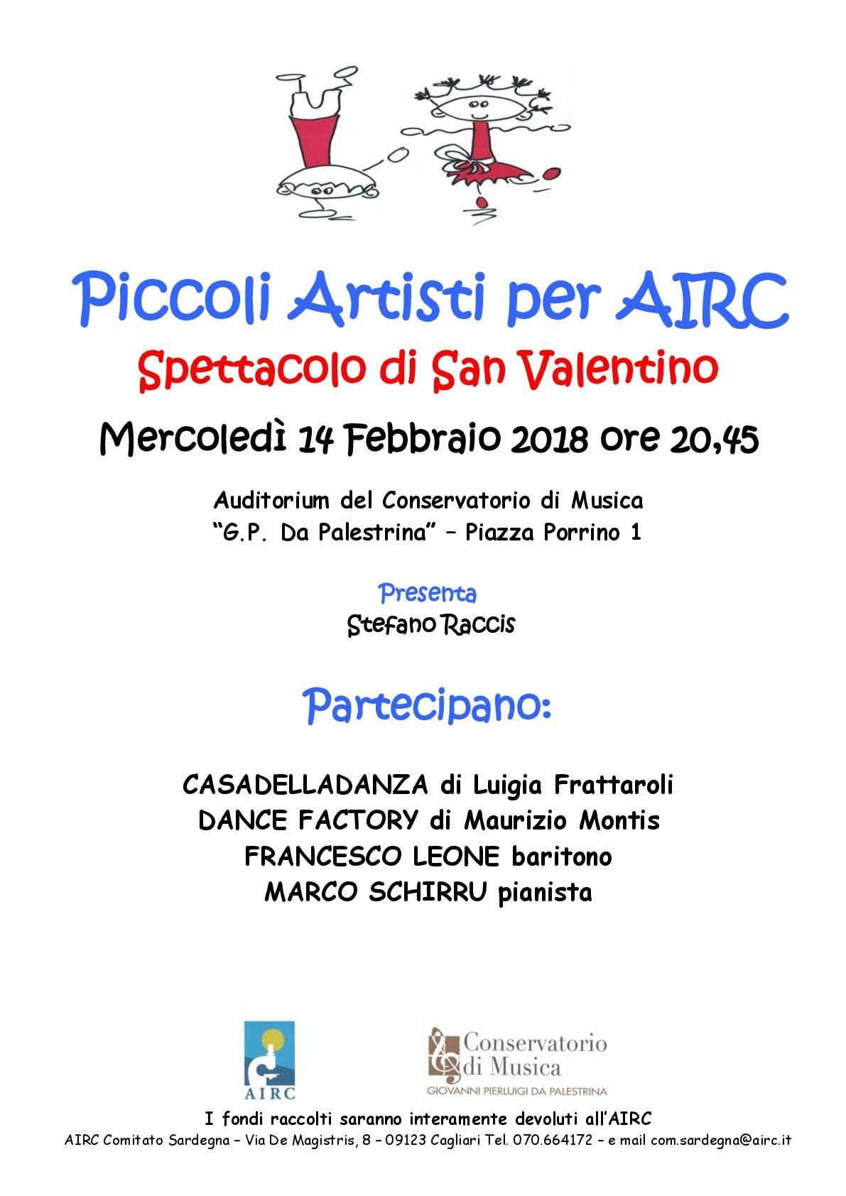 Piccoli artisti per AIRC – Spettacolo di San Valentino