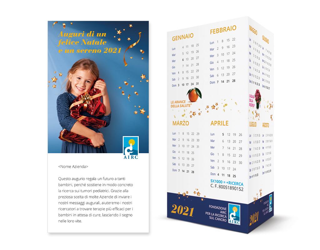 Natale 2021 Calendario.Messaggio Di Auguri Che Si Trasforma In Calendario Da Tavolo