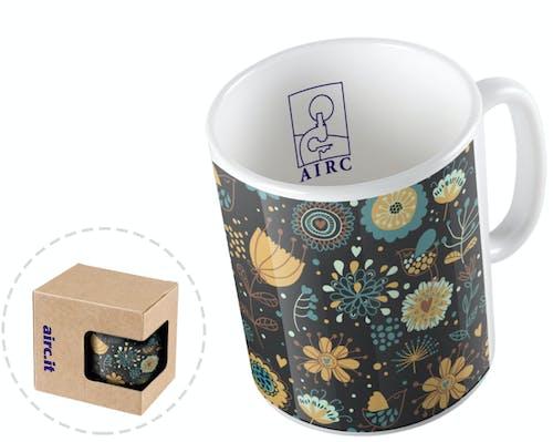Tazza mug in ceramica - Fiori