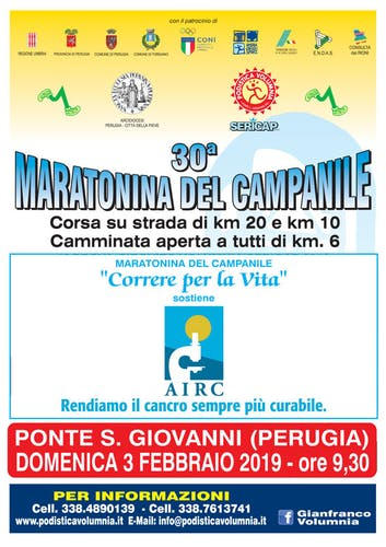 """Maratonina del Campanile """"Correre per la Vita"""""""