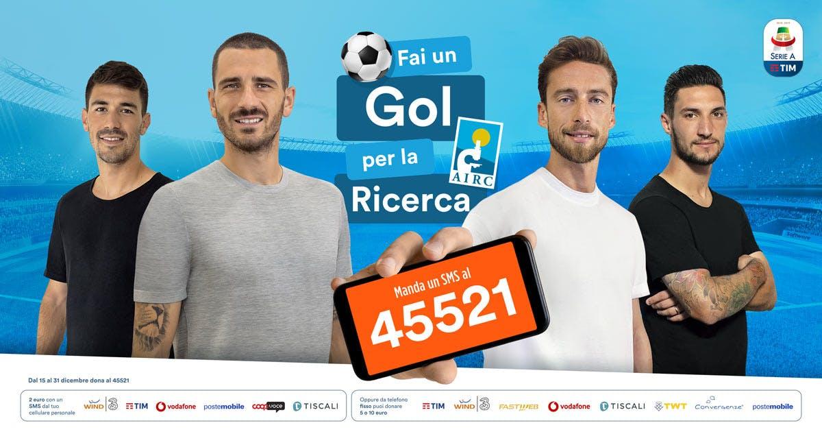 La Serie A si schiera con AIRC